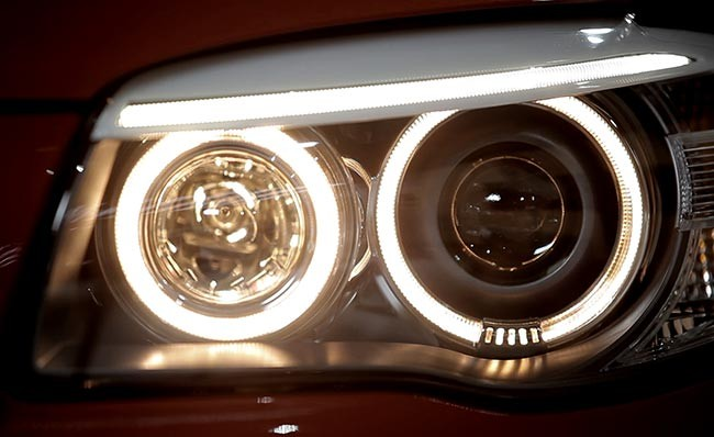 Headlight shot from Veejo's BMW video