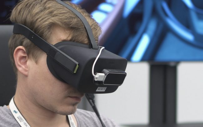 Man in a Virtual Reality Headset